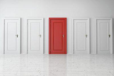 Interior door painting